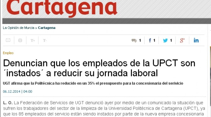 Noticia la Opinon Cartagena